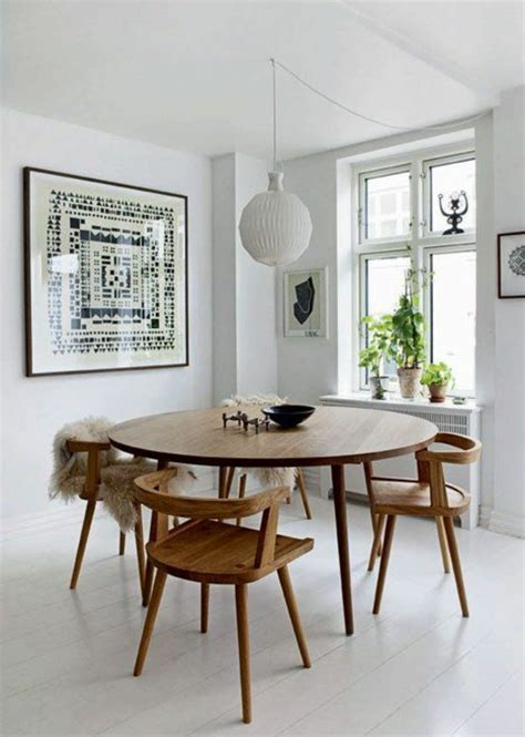 scandinavian furniture giving each setting a modern flair