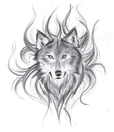 doodle draw design wolf drawing wolf with wings falling drawings