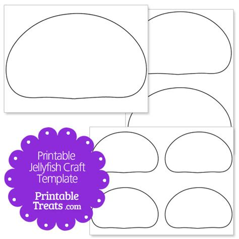 jellyfish template printable jellyfish craft printable treats