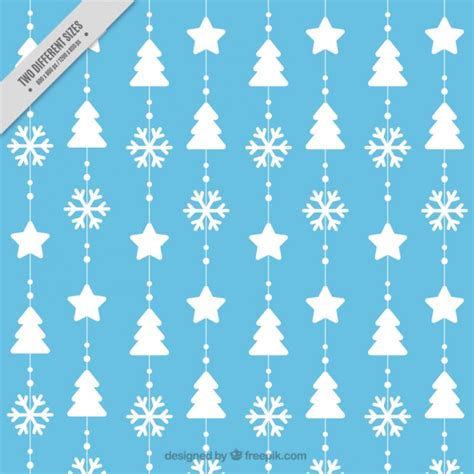 pattern snowflake ai pattern of christmas trees and snowflakes vector free