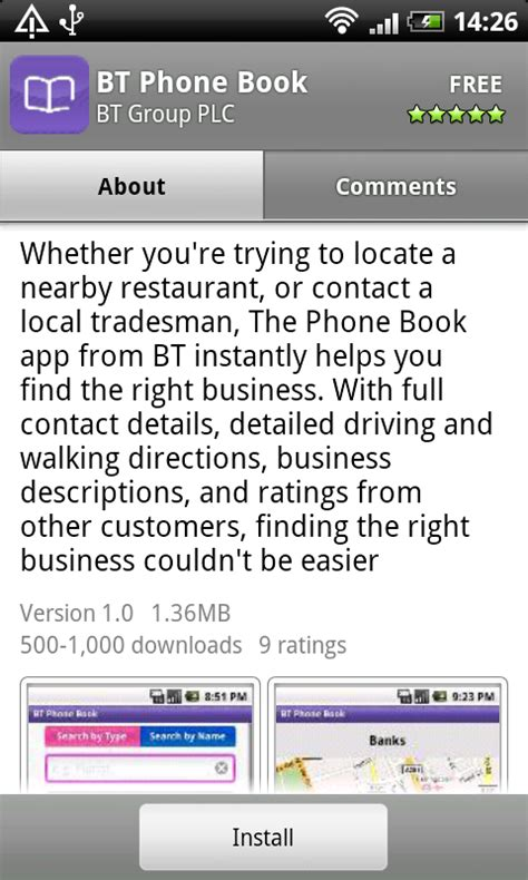 Bt Phone Book Lookup Bt Phone Book Launches On Android Market Eurodroid