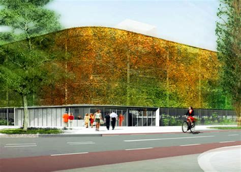 Underground Garage Design temporary dutch parking garage is as green as it looks