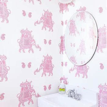 pink elephant wallpaper sketched elephant pink safari wallpaper