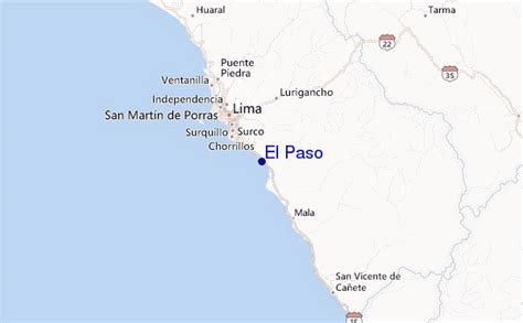 where is el paso on the map el paso surf forecast and surf reports lima peru