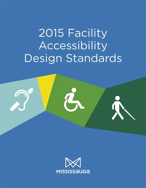 accessibility design guidelines ontario city of mississauga facility accessibility design standards