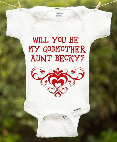 godmother onesie will you be my godmother onesie