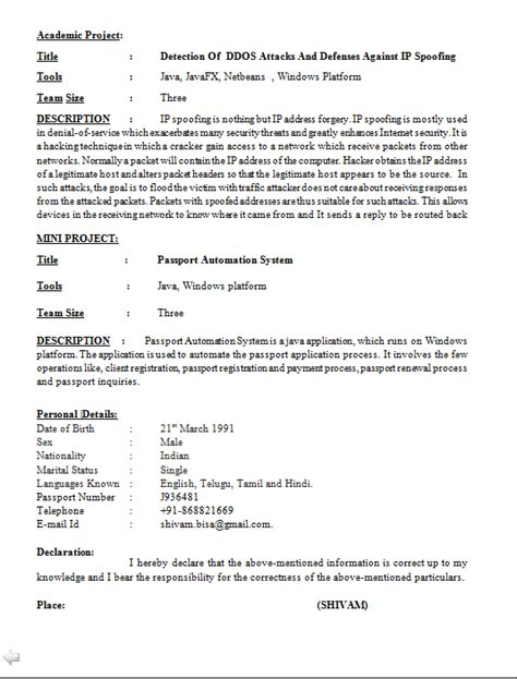 Resume Format Computer Engineer Computer Software Engineer Resume