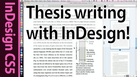 Tutorial Writing Your Bachelor Master Thesis With Indesign Cs5 Introduction Part 1 Youtube Photo Essay Template Indesign