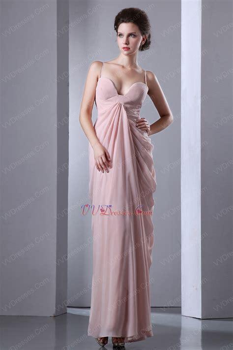 Dress Pearl Hotpink Spaghetti Straps Column Floor Length Pearl Pink Skirt Prom