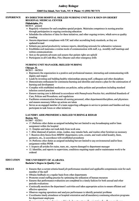 snf resume occupational therapist resume sles photos