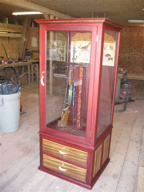 Handmade Gun Cabinets - made wood gun cabinet by ore dock design