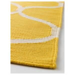 ikea teppich gelb stockholm rug flatwoven handmade net pattern yellow