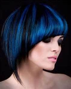 short modern hairstyles for women including blue streaks wig hairstyles for black women bob haircut with blue