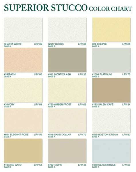 stucco color chart stucco color selection in san jose stucco supply co