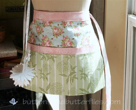 pattern for utility apron buttons and butterflies utility aprons