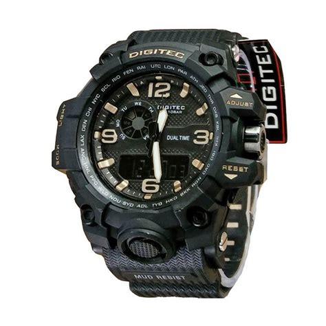 Jam Tangan Pria Digitec Time Original Black Gold Water Resis jual digitec dual time dg2093 jam tangan sport pria black gold harga kualitas