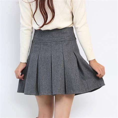 get cheap gray pleated skirt aliexpress