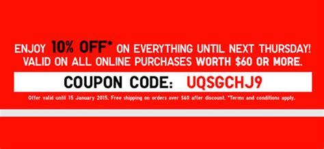 discount voucher uniqlo uniqlo 10 off storewide online promo 10 15 jan 2015