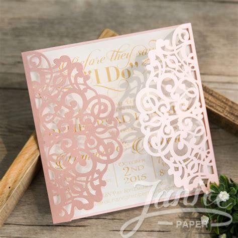 Janice Paper Laser Cut Wedding Invitations ? CW Print