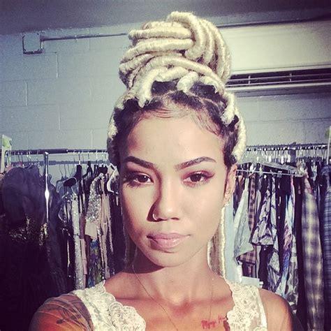 virtual hairstyles dreadlocks jhene aiko blonde faux locs