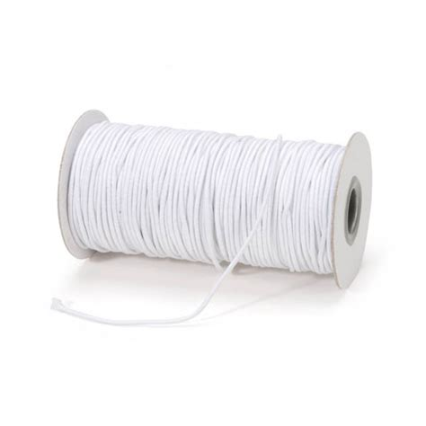 elastic cord white 2mm