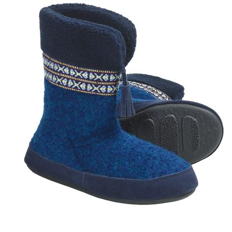 wool boot slippers acorn snowline boot slippers for 5783n save 71