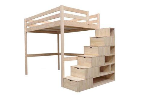 scale per letti a soppalco letto a soppalco sylvia con scala cubo abc meubles