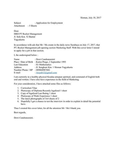 contoh surat lamaran kerja menggunakan bahasa inggris dan artinya surat lamaran bahasa inggris contoh lengkap surat