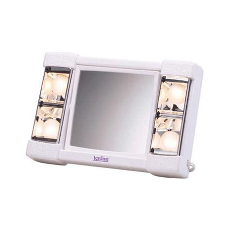jerdon lighted makeup mirror jerdon model j1010 3x lighted makeup mirror js j1010