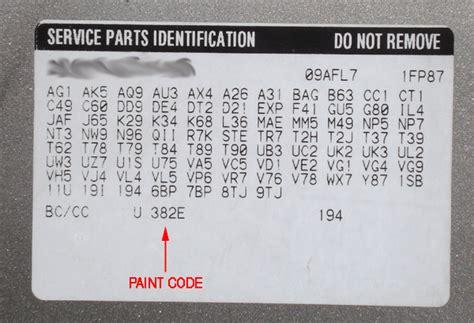 where location of code paint buick verano autos post