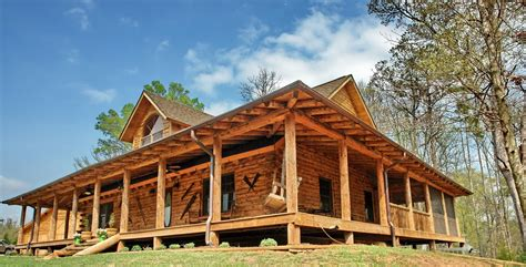 log cabin home with wrap around porch big log cabin homes model home country rustic dream home