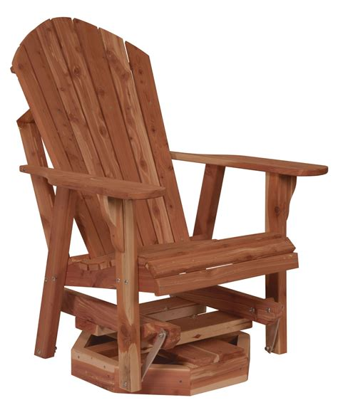Patio Glider Chair Plans by Adirondack Swivel Glider Amish Direct Furniture