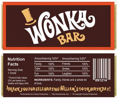 willy wonka chocolate bar wrapper printables airplane