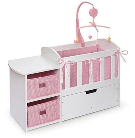 Badger Basket Doll Changing Table Crib With Changing Table Changing Tables And Cribs On Pinterest