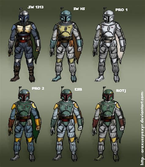mandalorian colors all boba fett color schemes by araxussyexyr on deviantart