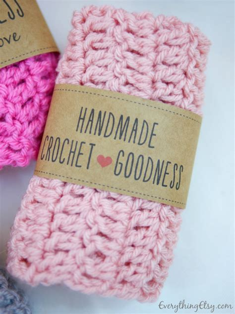 Tags For Handmade Crochet Items - free printable crochet gift labels everythingetsy