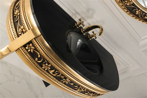 Vanity Gold by Armadi Classico Gold And Black 44 Inch Vanity Console
