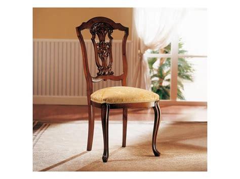 sedie classiche di lusso sedia in legno con seduta imbottita per sala da pranzo