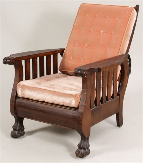 morris style recliner morris style mahogany reclining chair