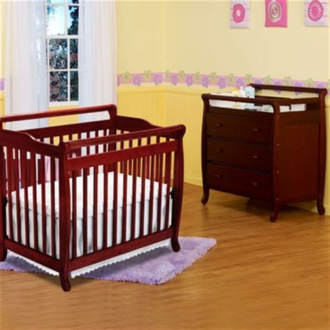 Davinci Emily Mini Crib White Da Vinci 2 Nursery Set Emily Mini Crib 3 Drawer Changer Cherry Free Shipping Davinci