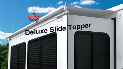 slide awnings for rvs dometic slide topper youtube