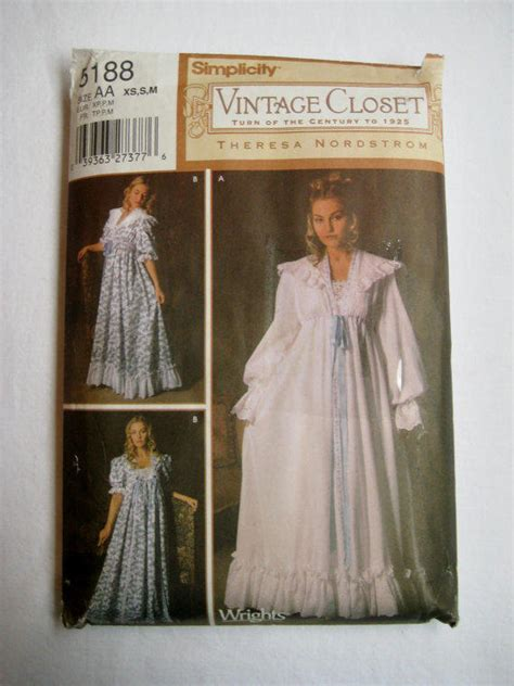 sewing pattern victorian nightgown simplicity sewing pattern 5188 nightgown from