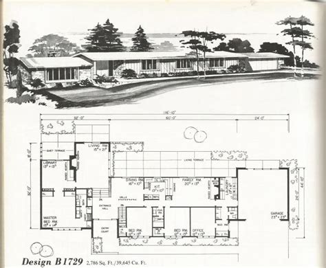mid century modern homes floor plans vintage house plans mid century contemporary antique