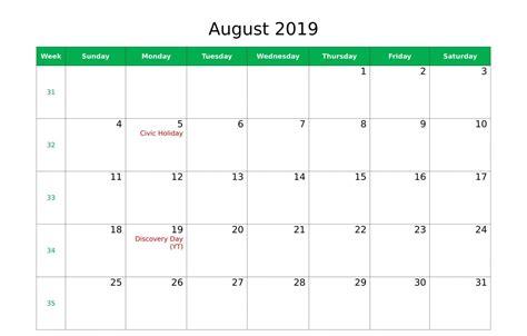 august  calendar   printable calendar templates