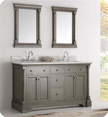 silver bathroom mirrors traditional bathroom serena fresca fvn2260sa kingston 61 quot antique silver double sink