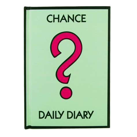 chance card template new hasbro monopoly chance daily diary a6 hardback day to page novelty gift unique home living