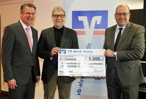 vr bank alzey vr bank mainz spendet 5 000 an kinderklinik der