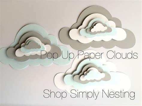 3 pop up paper clouds cloud wall 3 3d paper clouds