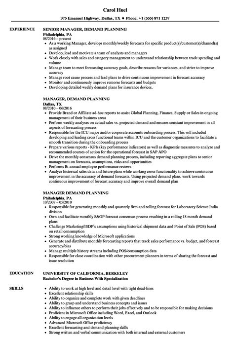 demand planner resume sle data analyst in houston tx word template best resume