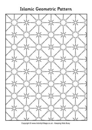 islamic pattern template eid colouring pages